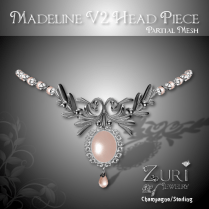 Zuri Rayna~Madeline V2 Headpieces - Champagne-SterlingPIC