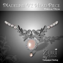 Zuri Rayna~Madeline V2 Headpieces - Champagne-SterlingPIC