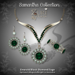 Samantha Collection - Emerald-Black Dia-Sage
