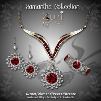 Samantha Collection - Garnet-Pewter-Bronze