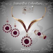 Samantha Collection - Magenta-Gold