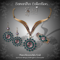 Samantha Collection - Plum_Alexandrite_Gold