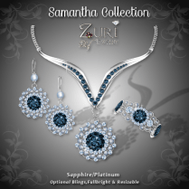 Samantha Collection - Sapphire-Platinum