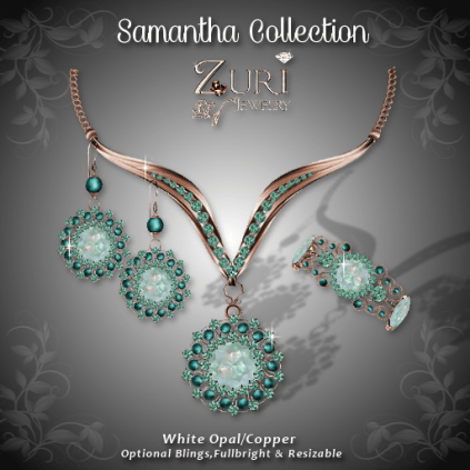 Samantha Collection - White Opal-Copper