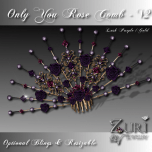 Zuri Rayna- Only You Rose Comb V2-Lush Purple-Gold TransPIC