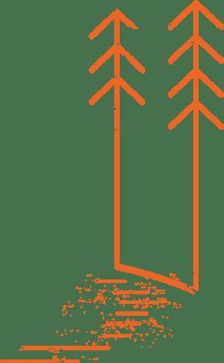 Zusammen raus Baum Illustration