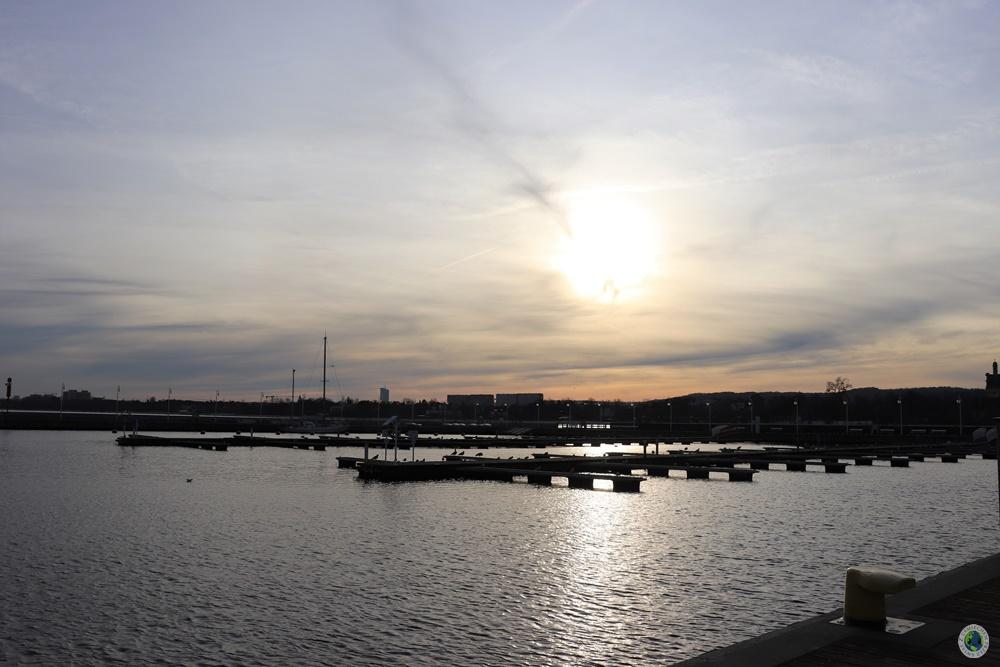 Widok z molo w Sopocie