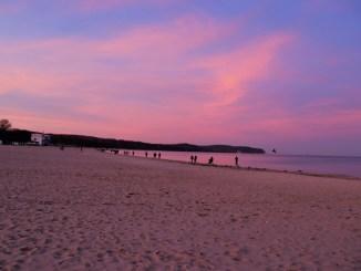 zachód słońca nad Bałtykiem