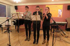 trio flaut - Michaela Uhríková, Anetka Dirbáková a Anna Obrcianová
