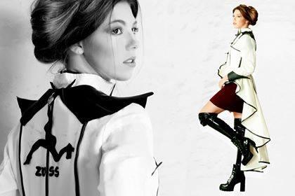 wit zwarte jas