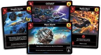 Quelques cartes de la faction rouge