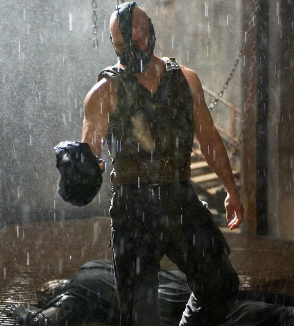 Dark Knight Rises Bane With Cowl