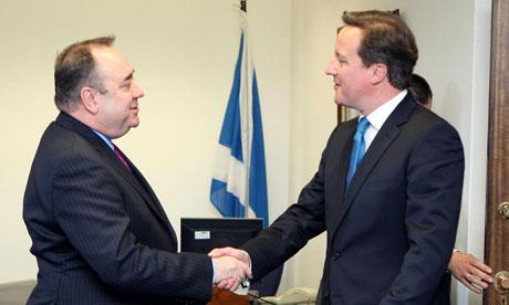 David Cameron eta Alex Salmond