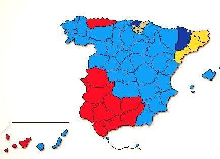 EH Bilduk eta EAJk Espainiako erkidegoetan jaso dituzten bozak