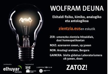 Ospatu gurekin Wolfram Deunaren jaia!