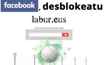 Facebooki Labur.eus desblokeatu dezan eskatzen lagunduko diguzu?