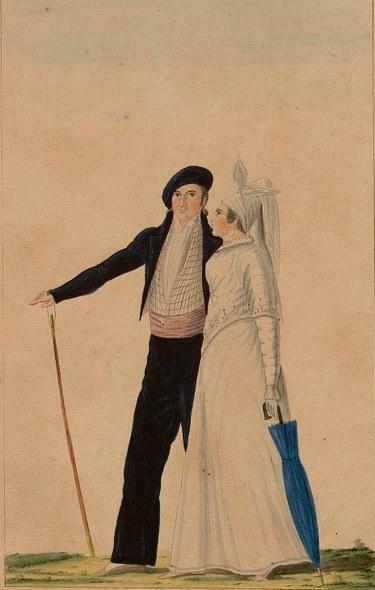 Bikote ezkondu euskalduna, 1828.