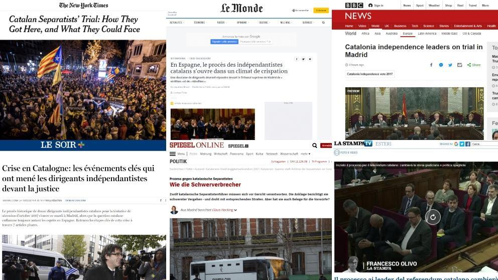 [Egunkari azalak] Kataluniako independentismoaren aurkako epaiketa