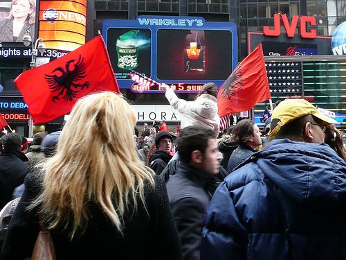 Indepentzia ospatzen, NYeko Times Squaren