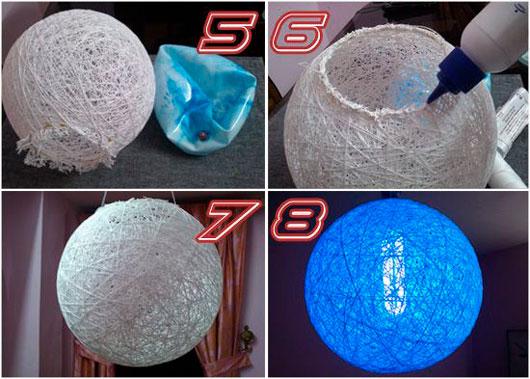 На фото изображено - Необычный декор: шары из нитей, рис. Делаем шары 2