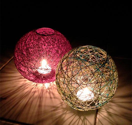 Фото-шоулар - ерекше декор: жіптер, күріш шарлары. 2-ші пафонд.