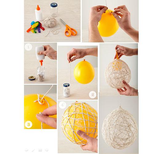 На фото изображено - Необычный декор: шары из нитей, рис. Делаем шар из ниток
