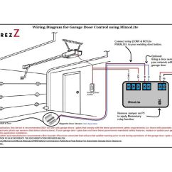 Wiring Diagram For Garage Door Opener House Electrical Philippines Safety Sensors Electric