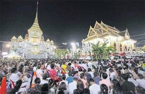 Huge crowds such as these at Wat Trai Mit Witthayaram in Bangkok's Samphanthawong district were seeking blessings and hoping to ward off bad luck – because the influence of Uranus was set to bring bad luck to the country, according to astrologers