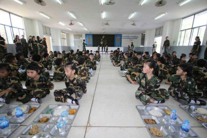 Thai junta started a military program for kindergarten children to raise patriotism