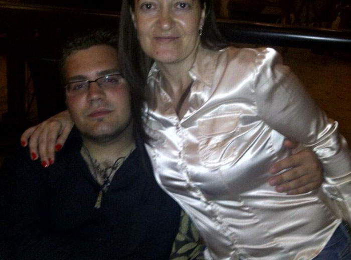 Abel with his mother Albertina Traut - 2012