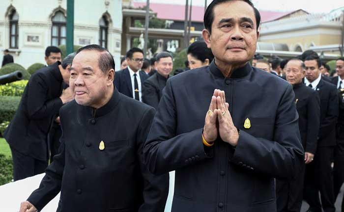 Tigers of the East. Thailand's Dictator Prime Minister Prayuth and Deputy Prime Minister and Defence Minister Prawit Wongsuwan