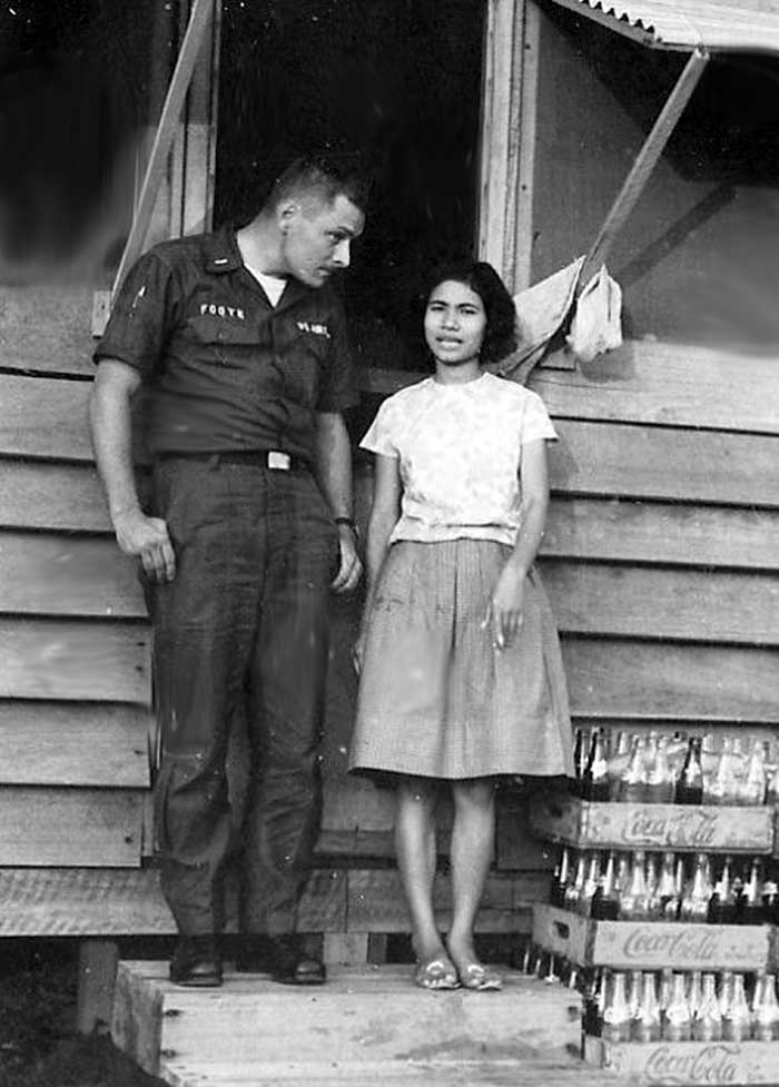 Old Pattaya - American soldier with a Thai girl