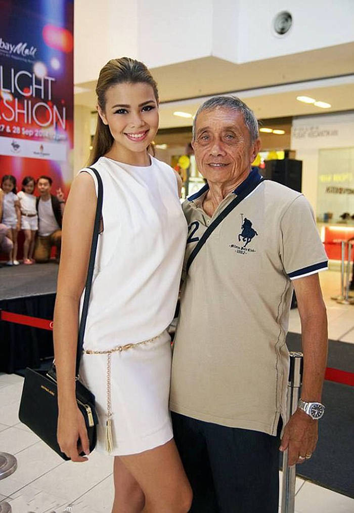 Ivana Smit with her grandfather