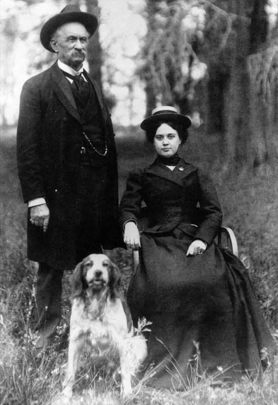 Lucky Baldwin with his third wife Lilly Bennet.