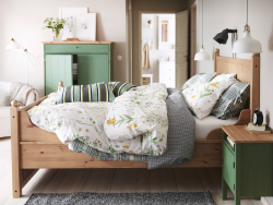 IKEA wood and fabric