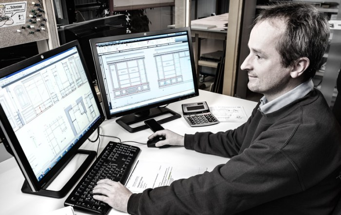Industriefotografie CAD-Arbeitsplatz Büro