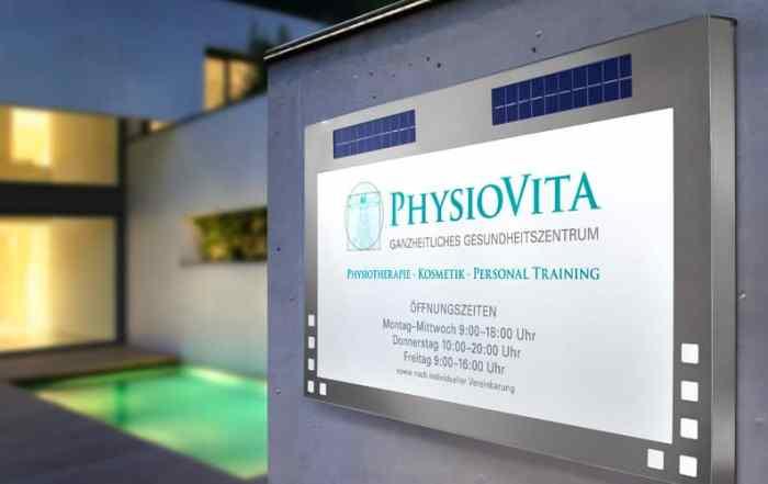 Produktfotografie LED-Firmenschild