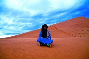 So sieht das dann aus, wenn man wie ein Berber gekleidet ist.....