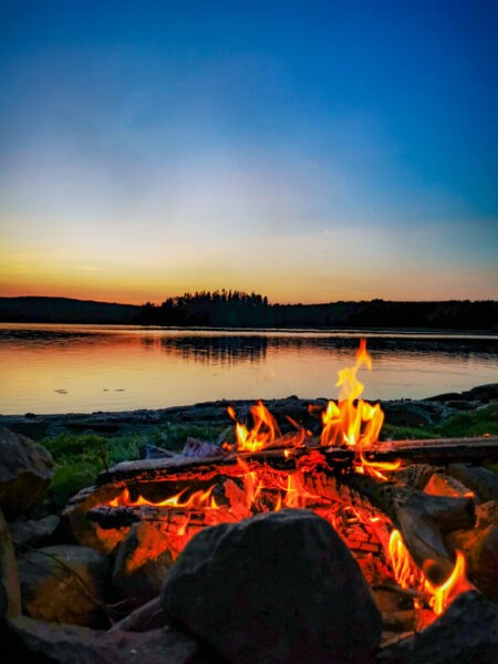 Kanutour Schweden: Sonnenuntergang