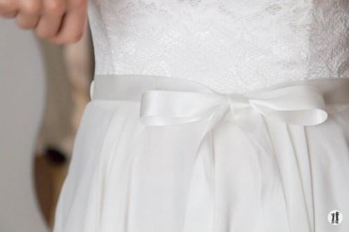 Zweikameras Hochzeit Kleid - Ring Regen Rosenblattkanonen