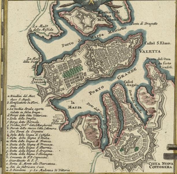 cavalieri di malta - malta 1720