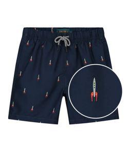 maat 128 jongens zwembroek met raket