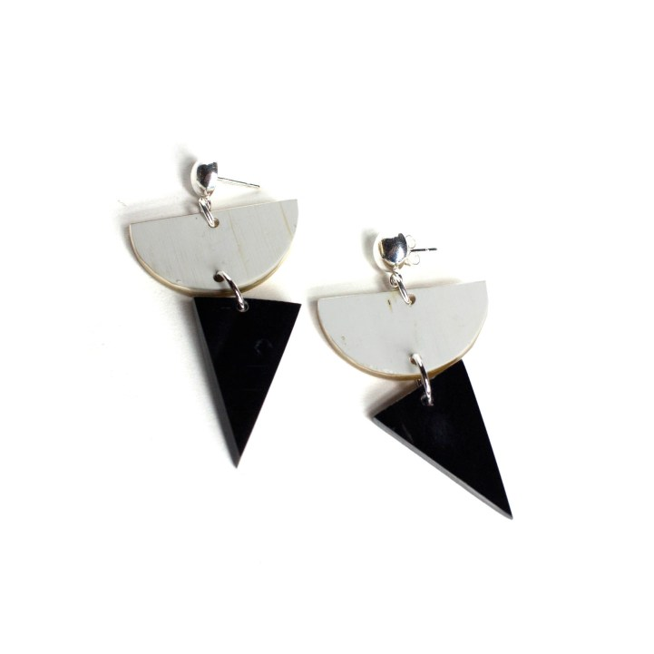 Ankole Geometric Post Earrings