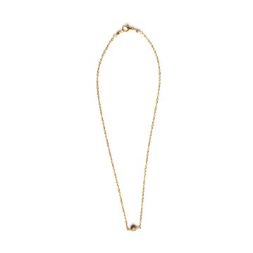 simple hex necklace gold