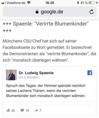 Blumenkinder Post von Ludwig Spaenle