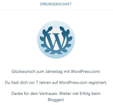 WordPress Glückwunsch
