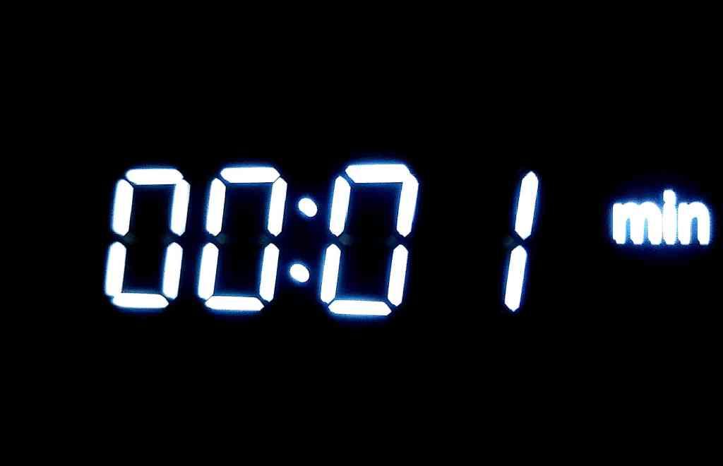Foto 08/20: Sekunde - Countdown-Uhr an der Mikrowelle