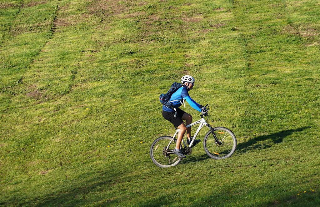 Mountainbiker am Fröttmaninger Berg