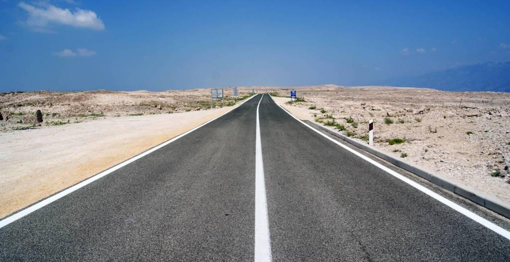 Straße nach Pag