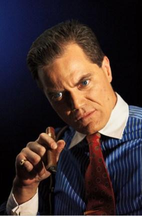 "Michael Shannon jako Gordon Gecko z filmu ""Wall Street"""